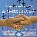Cáritas Castrense. Convocatoria 2018 Subvenciones MAPER